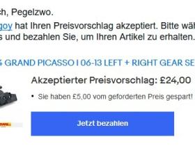 Projekt Schaltwippen: Auktion